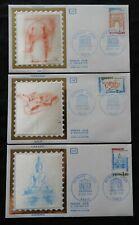 bk 92* Enveloppe 1er jour FDC 1981 n° 68 à 70  Service Unesco
