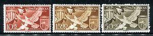 Spanish Guinea B45-B47  MNH Valencia 3v Birds, Coat of Arms 1958. x17137