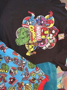 Mens Marvel Medium M Short Pyjamas New