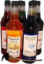 8 x 750 ml of snow cone , shaved ice syrup mix bottles  with 8 x 3ml pumps