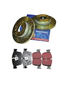 LAND ROVER FREELANDER 2 FRONT DRILLED & GROOVED DISCS AND EBC PADS DA4618 DA3306