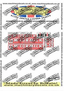 McCORMICK INTERNATIONAL B12 PLOUGH DECALS