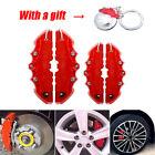 4Pcs 3D Universal Car Disc Brake Caliper Cover Front & Rear Kits w/ Keyring Gift Alfa Romeo 147