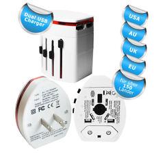 4in1 universal Reiseadapter mit 2 USBs für USA UK EU China Australien NEU