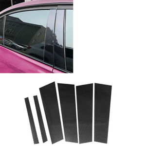 For Mercedes Benz GLA 2013-18  Carbon Fiber Window B-pillars Cover Sticker Trim