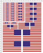 Self Adhesive Sticker decal USA flag for different scales model kits 20267
