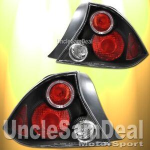 01-03 HONDA CIVIC 2DR COUPE RED HALO RIM ALTEZZA TAIL LIGHTS JDM BLACK PAIR