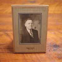 Vtg 1920s Executive Father Smoking Pipe Vinton, Iowa Real Cabinet Photo Portrait