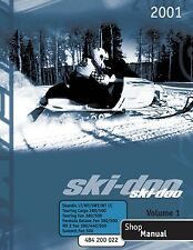 Ski-Doo service manual 2001 TOURING FAN 380/500 & FORMULA DELUXE FAN 380 / 500
