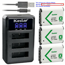 Kastar Battery Triple Charger for Sony NP-BX1 Cyber-shot DSC-RX100M6 (RX100 VI)