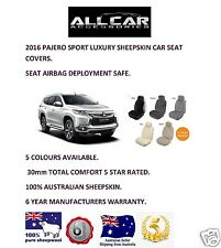 Sheepskin Car Seat Covers for Mitsubishi Pajero Sport, Seat Airbag Safe, 30mm.