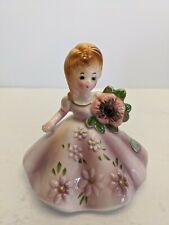 Vintage Josef Originals Birthstone Doll February Amethyst