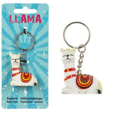 Porte-clés lama blanc - Porte-clefs alpaga vigogne guanaco Cadeau nature, Tibet