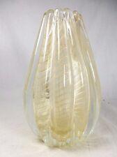 Beautiful BAROVIER & TOSO MURANO CORDONATO d 'oro glass vase VASO VETRO 18 cm