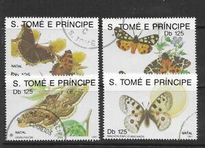 Sao Tome and Principe 1991 Christmas Butterflies F/U (69)