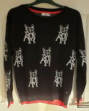 AJC French Bulldog Jumper, Black and White, Size 10 / 12, BNWOT