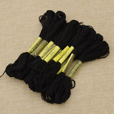 Black Anchor Cross Stitch Cotton Crochet Embroidery Floss Thread Skien 1 Set