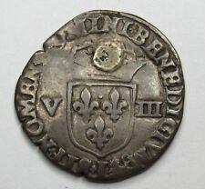 - Henri IV-ecu 1/8 to the 1594-leafy cross Bayonne -