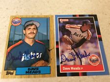 Lot Of 2 Autographed Houston Astros Dave Meads Baseball Cards