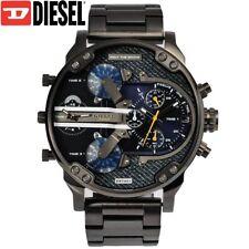 ✔️  DIESEL Mr. Daddy 2.0 DZ7331 Gunmetal Blue Denim Wrist Watch for Men