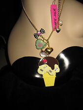 BETSEY JOHNSON CANDYLAND ICE CREAM CONE LONG NECKLACE~RARE