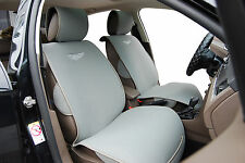 2 Car Seat Covers Cushion Velour w Leather Compatible To Mitsubishi 6801 Gray