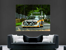 AUDI CAR POSTER SPORT QUATTTRO S1 RALLY CLASSIC HUGE LARGE IMAGE