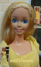 Vintage Barbie Doll Superstar Era Magic Curl #3856 OOAK No Bangs Barbie