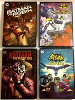 New/Sealed 4 DC Comics  BATMAN DVD's - FREE SHIPPING!!