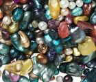 100Pc LOT~Colorful Fresh Water PEARLS Mixed UNIQUE Shapes~Ships FAST US SELLER!