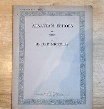 ALSATION échos, pour piano, heller Nicholls 1925 feuille de musique,