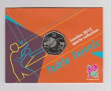 TABLE TENNIS - Rare 50 Pence Olympic LONDON 2012  Uncirculated Coin in Folder