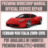 *WORKSHOP MANUAL SERVICE & REPAIR GUIDE for FERRARI 458 ITALIA 2009-2015 +WIRING