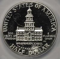1976 S ANACS PF66 Struck Thru Threads Silver Bicentennial Half Dollar Mint Error