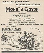 Y7720 Motos MONET & GOYON - Pubblicità d'epoca - 1927 Old advertising