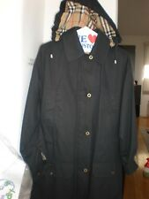 BURBERRY LONDON WOMENS 95 % COTTON ANORAK COAT JACKET SZ  XS  BLACK TRENCH MINT
