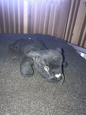 Ty Beanie Baby velvet Black Panther  plush 1995 Staffed animal