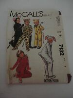 Vintage 7132 McCall's Children Bunny Cat costume or pajama Size 4 uncut pattern
