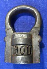 Very RARE Russian 1900 forged Padlock Pavlov lock . 1,5kg  Marked
