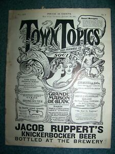 1911  TOWN  TOPICS  -  NEW  YORK  CITY -  THE  JOURNAL  OF  (HIGH)  SOCIETY