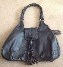 Brown Leather Hand Bag Shoulder Bag Marks and Spencer