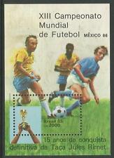 BRAZIL. 1985. World Cup Football Miniature Sheet. SG: MS2175. Mint Never Hinged.