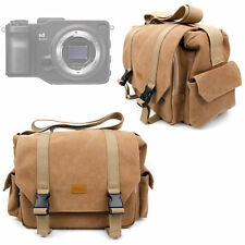 Tan Brown Large Canvas Bag for Sigma sd Quattro   H Cameras With Shoulder Strap