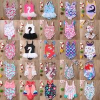Newborn Toddler Kids Baby Girls Swimwear Swimsuit One-piece Bikini Beachwear
