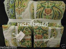 Pottery Barn Quinn Wholecloth Paisley Full/Queen Quilt and 2 Euro Shams Set NEW