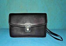 baisenville sacoche BALENCIAGA vintage authentique en cuir noir porté main