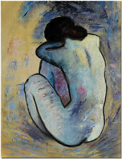 Blue Nude - Signed Hand Painted Pablo Picasso Oil Painting On Canvas Wall Art