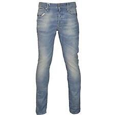 G Star 3301 Slim Jeans Medium Aged Blue Mens Jeans Size 27W 34L *REF23