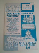 Light Railway Guide and Timetables 1966 Edition +Vintage Adverts
