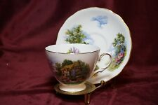 Royal Vale 1955-64 Tea Cup and Saucer Thatched Cottage Garden Ridgway Potteries